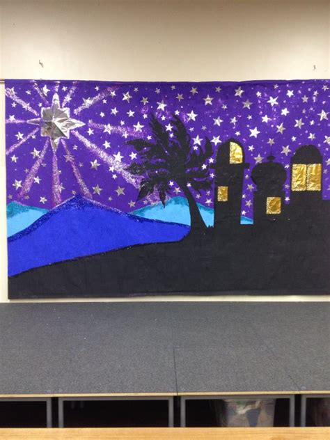 Backdrop Ideas For School by Our School Backdrop For Our Nativity Plays All
