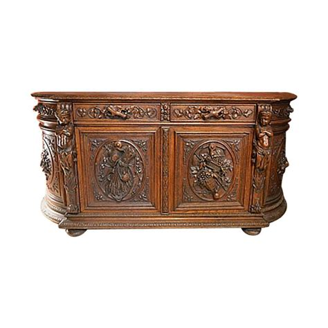 Oak Sideboards For Sale by Antique Carved Oak Sideboard For Sale At 1stdibs