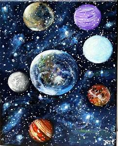 Planets Painting original Acrylic painting on by ...