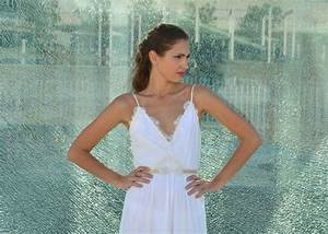 Wedding dress deep v neck with lace on cleavage and an for Wedding dress cleavage