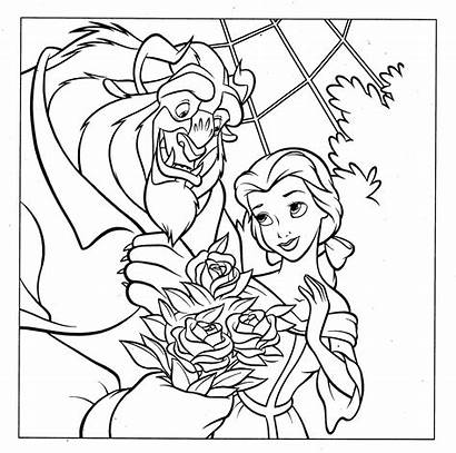 Disney Coloring Pages Princess Belle Valentine Colouring