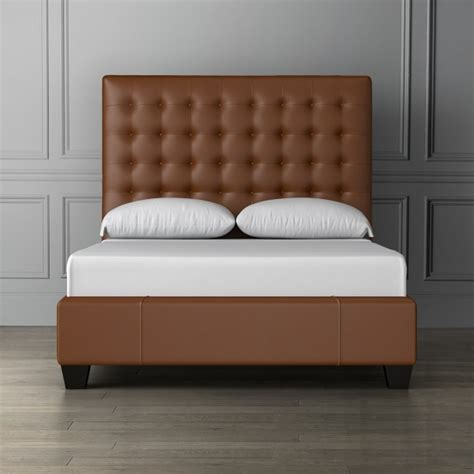 Leather Bed Headboard by Fairfax Leather Bed Headboard Williams Sonoma