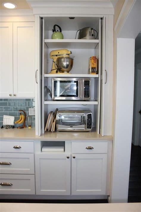 kitchen cabinet appliance storage microwave and toaster oven kitchen ideas