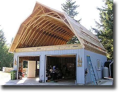 Pre Made Shed Trusses by After New Joists Are Rebuild Gambrel Ceiling With