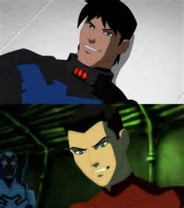 Tim Drake Young Justice Nightwing and Robin