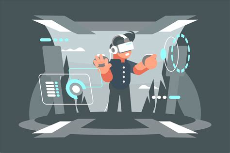 Virtual Reality Experience Illustration  Download Free Vector Art, Stock Graphics & Images