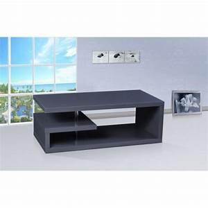 Table Pour Tv : table basse tv glee laqu e couleur gris anthr achat ~ Teatrodelosmanantiales.com Idées de Décoration