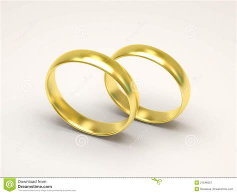 golden wedding rings on white background royalty free