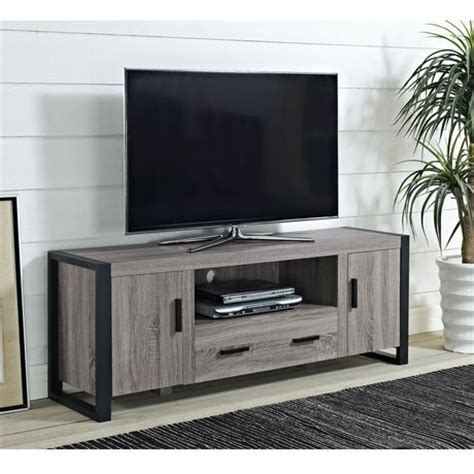Walmart Cabinet Tv by We Furniture 60 Quot Grey Wood Tv Stand Console Walmart Ca