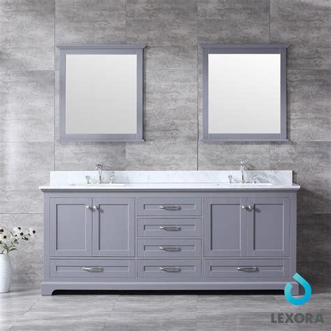 dukes color dark gray double bathroom vanity
