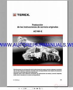 Terex Crawler  U0026 Mobile Crane Full Shop Manual Dvd