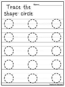 trace the shapes tracing worksheets preschool kdg math 845 | original 3118143 1