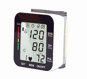 Upper Arm Blood Pressure Monitor Portable Led Display