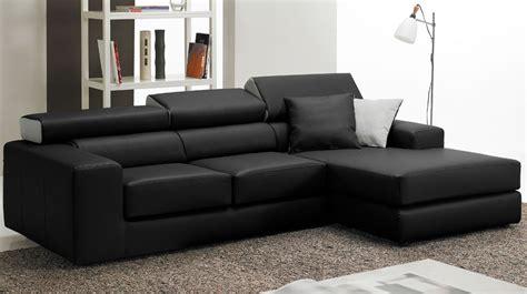 canap en cuir noir canapé d 39 angle en cuir noir haut de gamme angle réversible