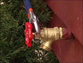 leaking spigot handle in garage