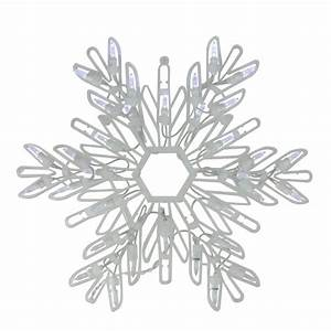 15, U0026quot, Cool, White, Led, Lighted, Snowflake, Christmas, Window, Silhouette, Decoration