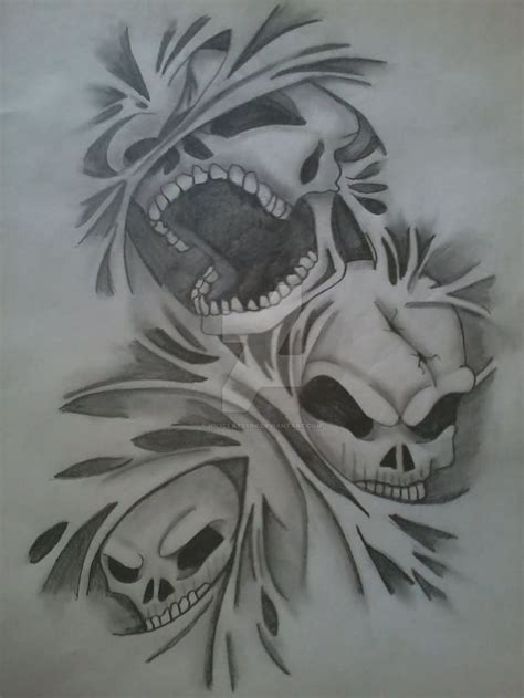 Collection Of 25+ Wicked Skull Tattoo Designs