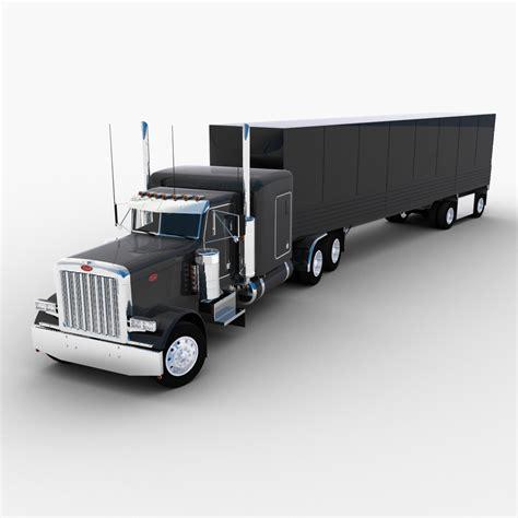 model semi trucks semi truck semi trailers 3d model