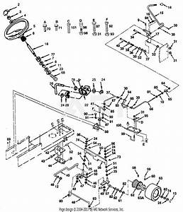 Poulan Pp14h44a Tractor Parts Diagram For Steering Assembly