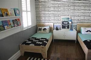 Modern shared big kids room for 2 boys destination nursery for Bedroom ideas for teenage guys 2