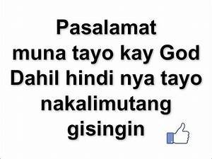 SHORT QUOTES ABOUT GOD TAGALOG image quotes at relatably.com