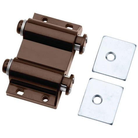 magnetic cabinet door catch liberty 2 in brown spring loaded double magnetic touch