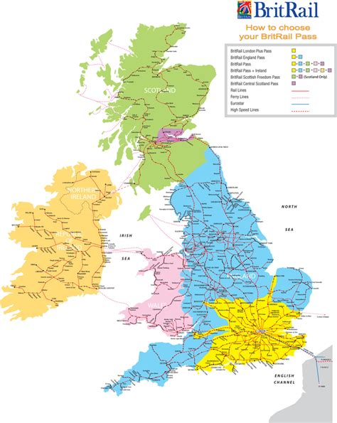 railroads map  great britain great britain railroads