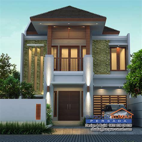 desain rumah tropis  lantai  lahan     brp