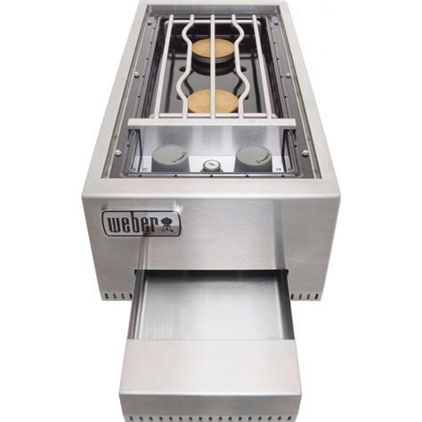43820 Dual Liner Coupon Code by 83003 Weber Summit Built In Dual Side Burner Propane