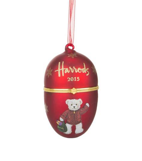 teddy bear christmas decorations set of 3 harrods