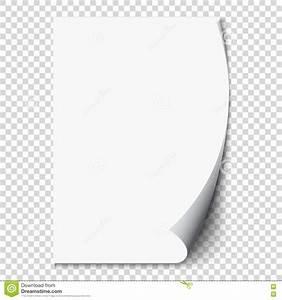 Vector Realistic White Paper Corner Vector Illustration