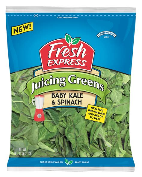 juicing kale spinach greens 11oz fresh express