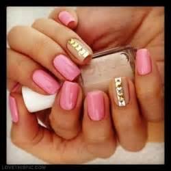 Pink and gold nail art designs