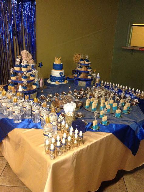 royal themed baby shower ideas royal prince baby shower desert table babyshower pinterest