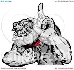 Cartoon Bulldog Mascot