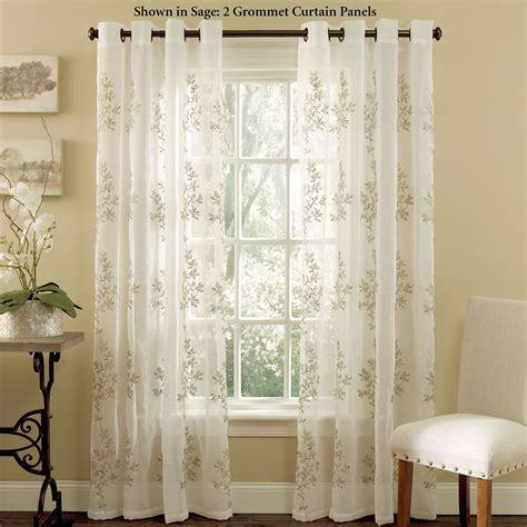Pottery Barn Indoor Outdoor Curtains by Sheer Curtains With Grommets Entrancing Leyden Grommet Top