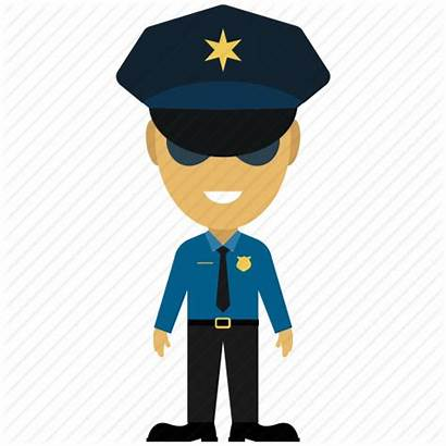 Police Cartoon Officer Security Force Icon Vector