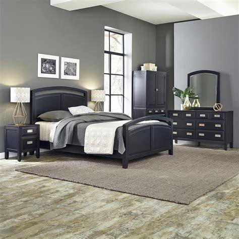 Home Styles Prescott 5piece Black Queen Bedroom Set5514