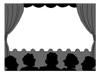 stage clipart black and white drama stage clipart 22