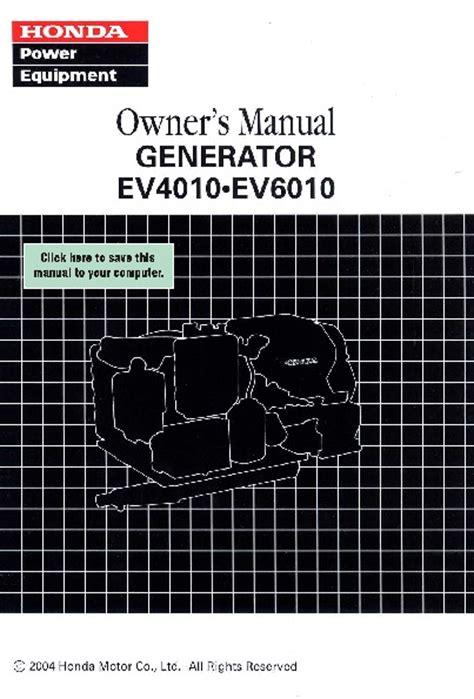 honda generator ev ev owners manual