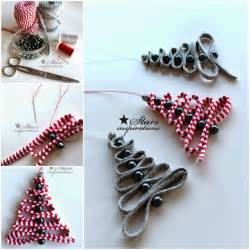 how to diy easy ribbon bead tree ornament www fabartdiy