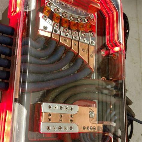 Custom Car Audio Power Distribution Plexiglass Billet
