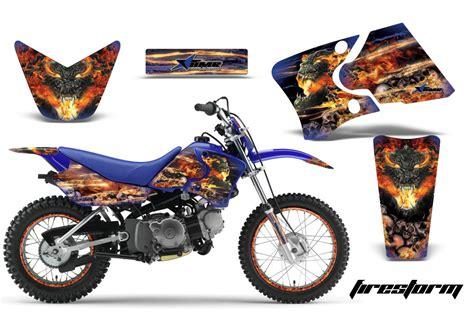 graphics for motocross bikes yamaha motocross graphic sticker kit yamaha mx ttr50 ttr90