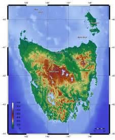 Tasmania Topography Maps