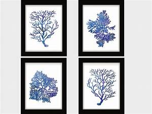 Blue white blue coral blue coral wall art blue for Kitchen colors with white cabinets with tree of life metal wall art decor