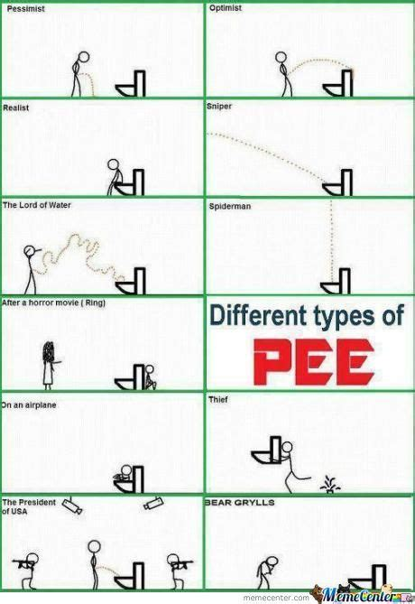 Different Types Of Memes - different types of pee by ragingpixie meme center
