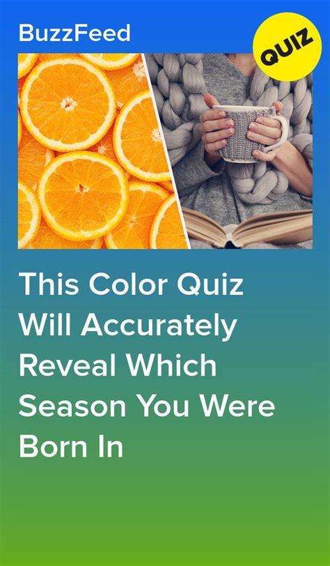 color quiz  accurately reveal  season