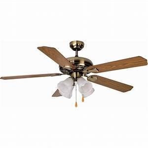 Aloha? breeze quot dual mount antique brass ceiling fan