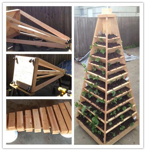 how to build a diy vertical garden pyramid tower to grow