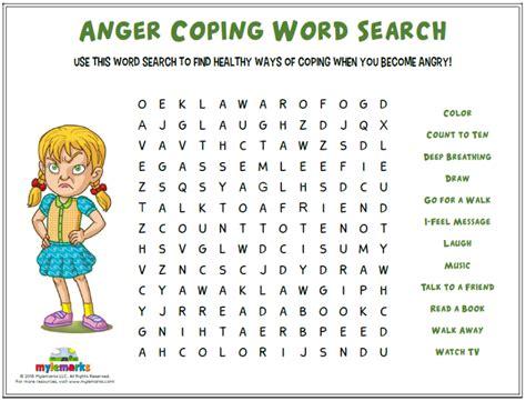 anger worksheets  kids  teens